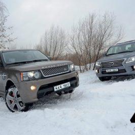 Неравный поединок Range Rover Sport и Lexus LX 570