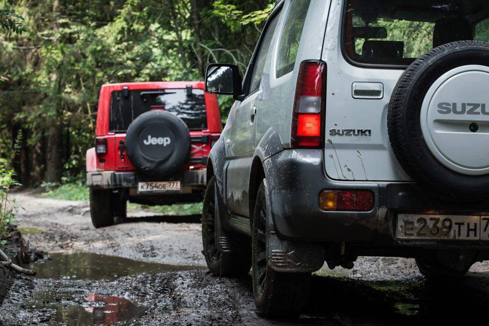 Jeep wrangler suzuki jimny offroad