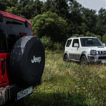 Сравнение Suzuki Jimny и Jeep Wrangler на бездорожье