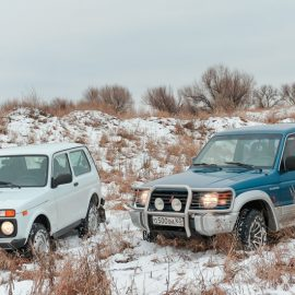 Cравнительный тест Lada 4×4 и Mitsubishi Pajero
